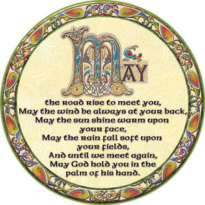 Coaster Set Irish Blessing 4 Pack -  Natures Craft