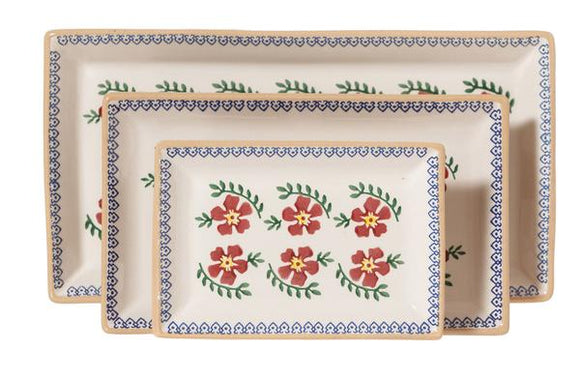 Nicholas Mosse Old Rose set of 3 rectangular dishes