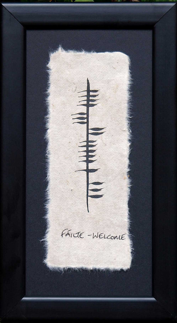 Ogham Wish Welcome (Fáilte)