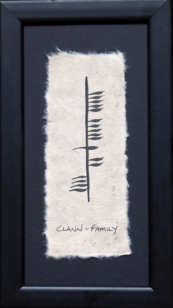 Ogham Wish Family (Clann) -  ogham wishes
