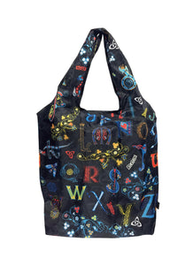Book of Kells Alphabet Foldable Shopping Bag -  patrick francis