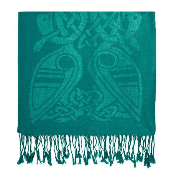 Book of Kells Celtic Emerald Scarf -  Patrick Francis