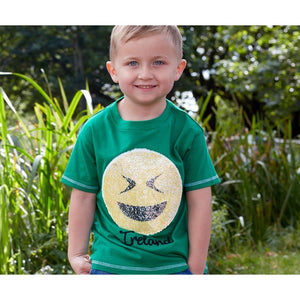 Kids Ireland Emoji Sequin T Shirt -  Aran crafts