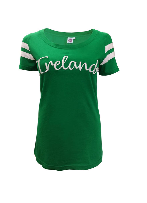 Ireland Embroidered Fitted T Shirt -  Patrick Francis