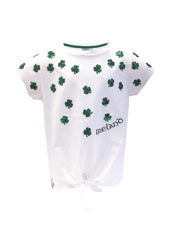 Shamrock Reversible Sequence Cotton Top -  Aran crafts