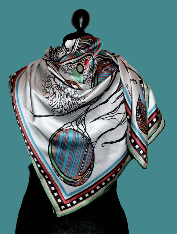 Silk Scarf by Rita White... Brooklyn Bridge