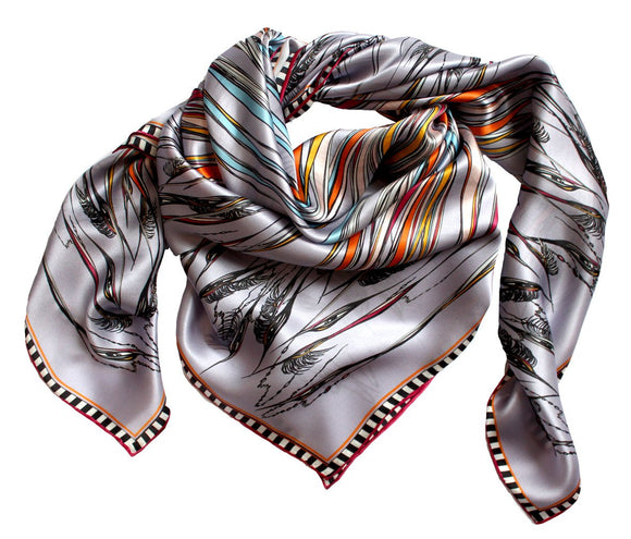 Silk Scarf by Rita White...Birds in the Reeds