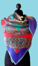 Silk Scarf by Rita White...Butterfly Circles