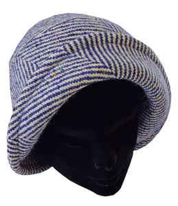 Handwoven Ladies Irish Tweed Hat -  Studio Donegal