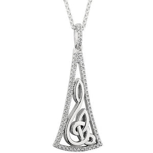 Sterling Silver Celtic Eternity Pendant -  Solvar