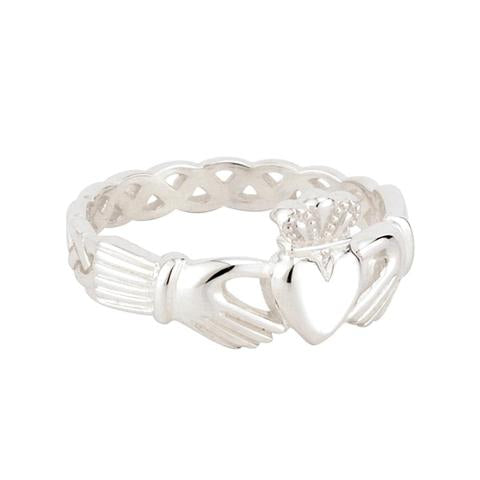 Ladies Claddagh Ring Sterling Silver Celtic Knot -  Jim O'Conner