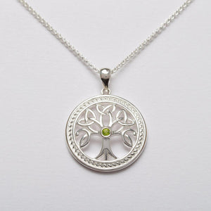 Celtic Tree of Life Sterling Silver Pendant -  Solvar