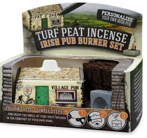Turf Peat Irish Pub Incense Burner -  turf peat incense