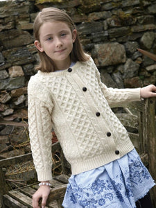 Aran Cable Fisherman Cardigan -  Aran crafts