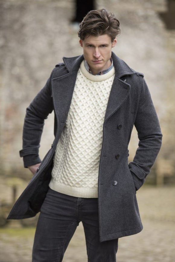 Fisherman Aran Cable Knit Crew