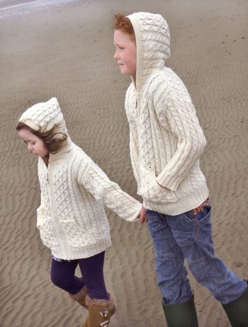 Aran Cable Fisherman Hooded Sweater -  Aran crafts