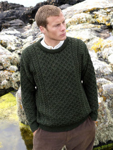 Fisherman Aran Cable Knit Crew -  Fisherman Out of Ireland