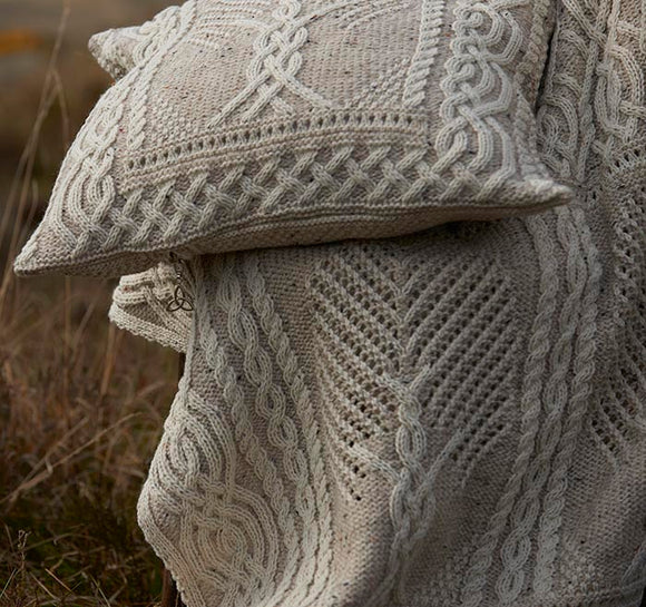 Aran Knit Fairy Tree Super Soft Merino Wool Blanket/Throw -  McNutts of Donegal
