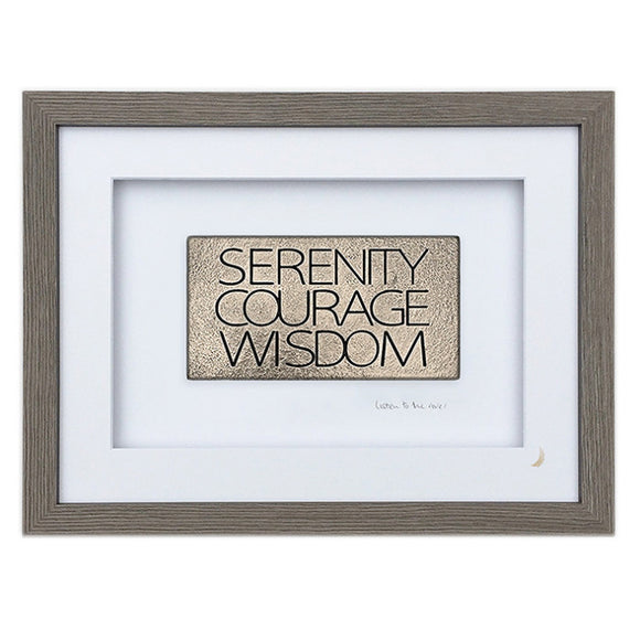 Wild Goose Studio Gallery Framed 'Serenity Courage Wisdom