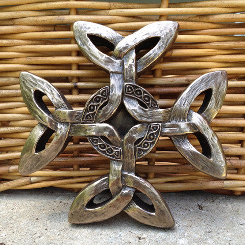 Wild Goose Studio Celtic Creation Cross in Bronze -  Wild Goose Studio