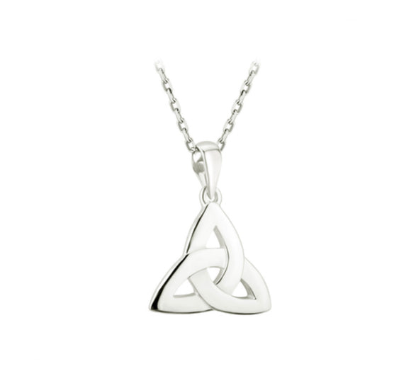 Sterling Silver Trinity Knot Pendant -  Solvar