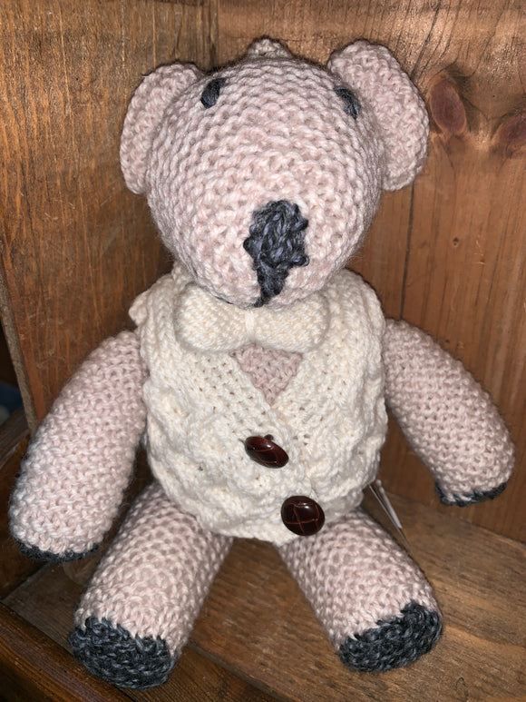 Hand Knit Aran Teddy Bear -  Aran crafts