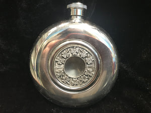 Mullingar Pewter Shamrock Hip Flask -  Mary-Anne's Irish Gift Shop