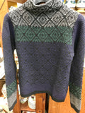 Fisherman Out of Ireland Tapestry Mock Neck Sweater -  Fisherman Out of Ireland