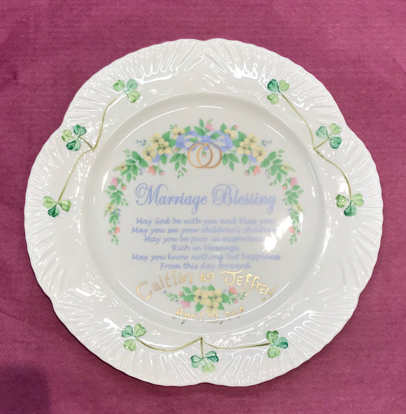 Belleek Marriage Blessing Plate -  Belleek