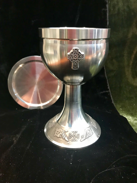 Mullingar Pewter Small Celtic Cross Chalice -  Mary-Anne's Irish Gift Shop
