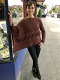 Áine Herringbone Sweater Wrap -  Aine