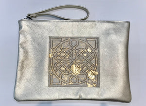 Leather Celtic Clutch Gold Wristlet -  Owen Barry