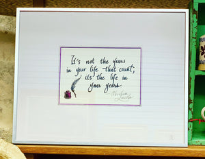 Inspirational Quote Abraham Lincoln -  Mary-Anne's Irish Gift Shop
