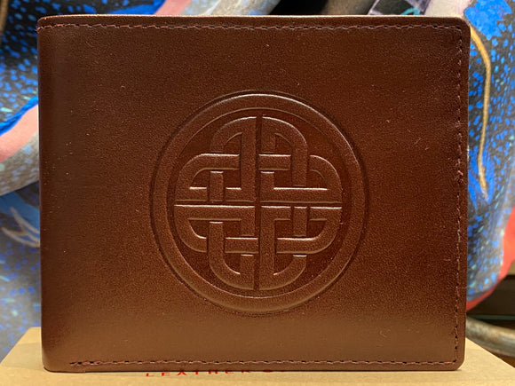 Leather Wallet with a Celtic Eternity Knot