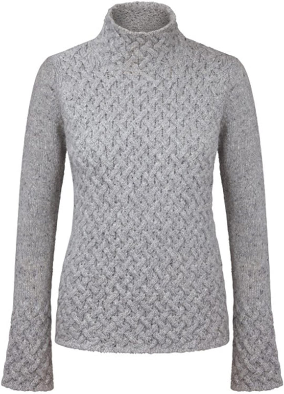 Fisherman Ladies Fitted Aran Tunic...Grey