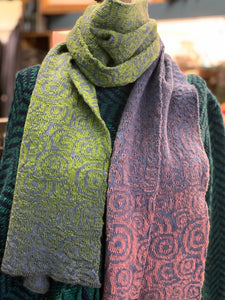 Newgrange Spiral Wool Hand-woven  Scarf -  Fisherman Out of Ireland