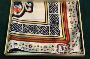 Book of Kells Celtic Silk Scarf Gift Boxed -  Patrick Francis