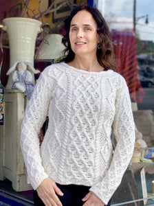 Fisherman Ladies Fitted Aran Crew -  Fisherman Out of Ireland