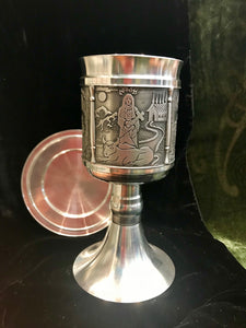 Mullingar Pewter St Brigid Chalice -  Mary-Anne's Irish Gift Shop