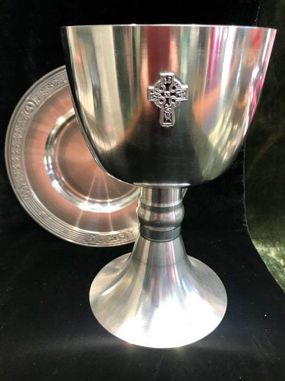Mullingar Pewter Large Celtic Cross Chalice