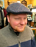 Irish Tweed Cap Blue Plain Stitch -  Hanna Hats