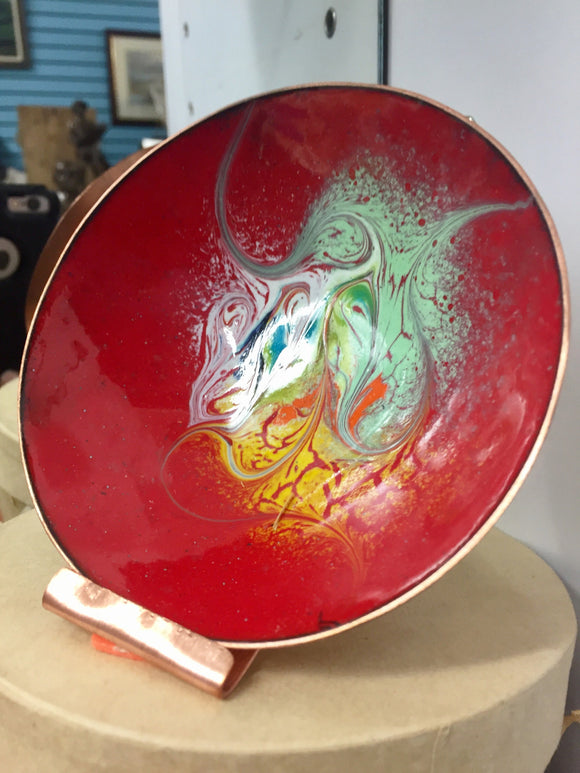 Enamel Copper Bowl