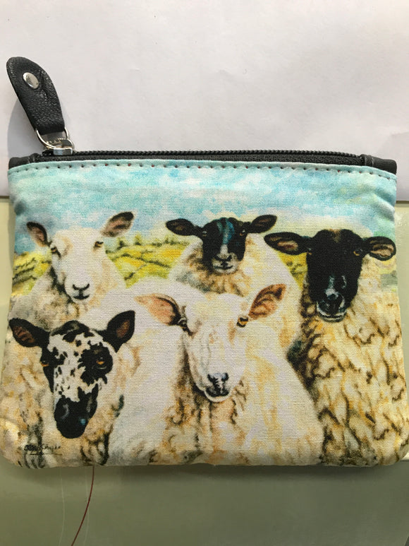 Leather Sheep Zipped Purse -  tinakeely