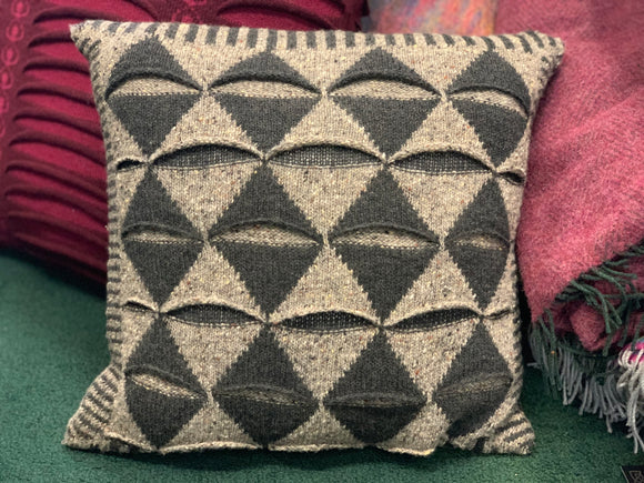 Aíne Lambswool Harlequin Large Cushion -  Aine