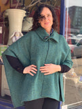 Handwoven Irish Tweed Cape with Toggle -  Studio Donegal