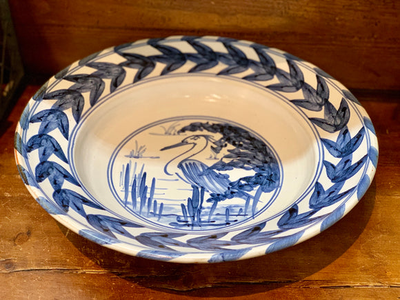 Earthenware Hand Painted Herring  XL Bowl