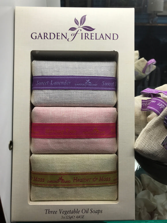Garden of Ireland Assorted Vegetable Oil Soaps in a Gift Box -  Mary-Anne's Irish Gift Shop