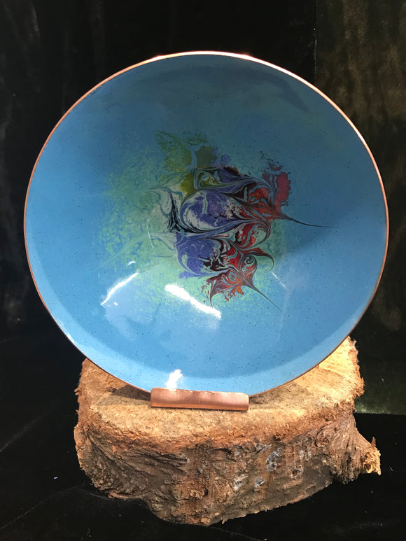 Enamel Copper Blue Bowl Large -  Maeb