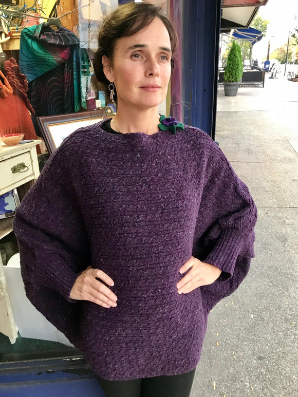 Áine Cable Sweater with Bell Sleeve