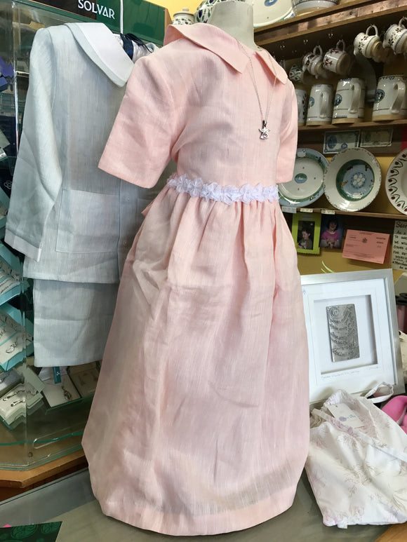Handmade Irish linen Girls Dress -  Mary-Anne's Irish Gift Shop